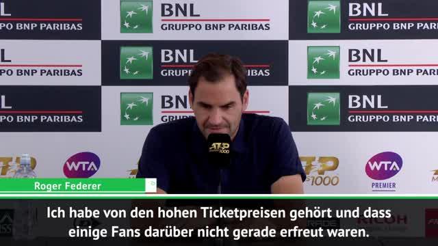 Hohe Ticketpreise: Federer ist nicht begeistert