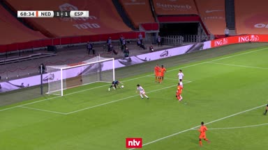 Die Highlights aus Niederlande vs. Spanien