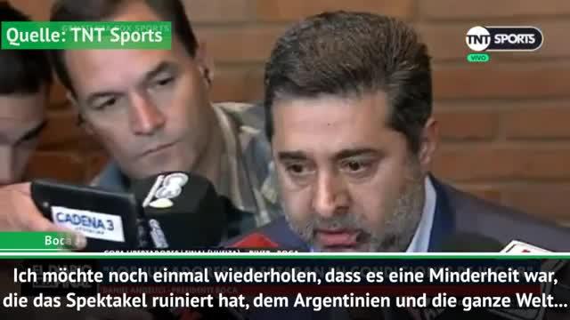 Copa Libertadores: Boca-Präsident äußert sich
