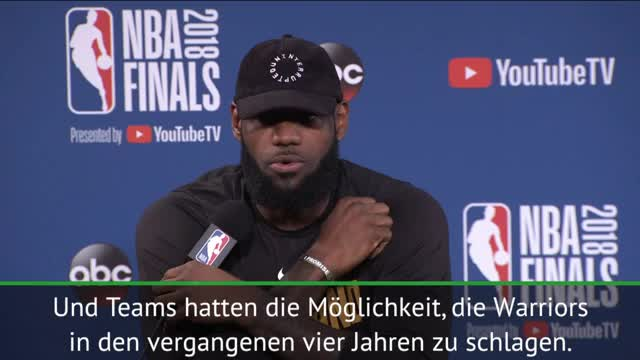 Das sagt LeBron zur Cavs-Warriors-Dominanz