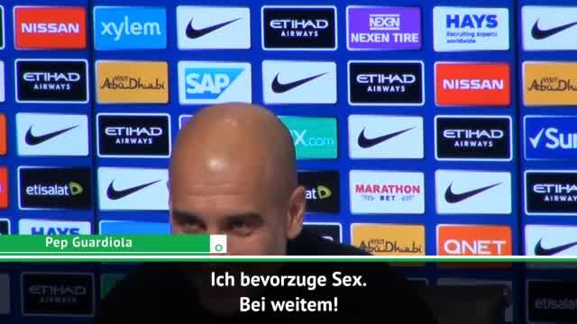 "Guardiola kontert Alves: ""Ich bevorzuge Sex"""