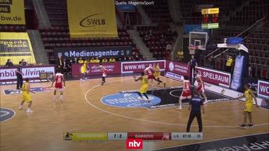 BBL-Playoffs: Ludwigsburg fertigt Bamberg ab