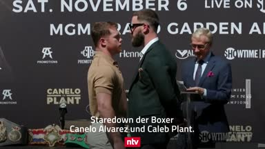 Schlägerei bei Box-PK! Duell Alvarez vs. Plant eskaliert