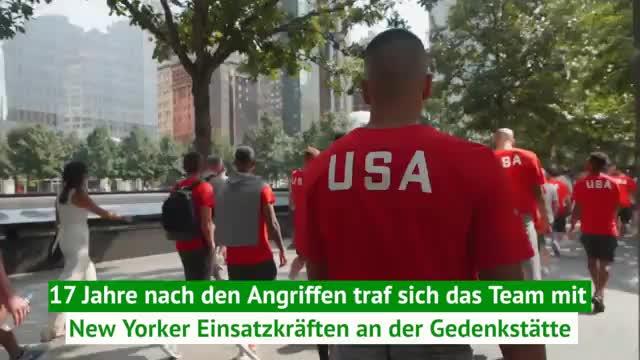 US-Fußballer besuchen 9/11-Gedenkstätte