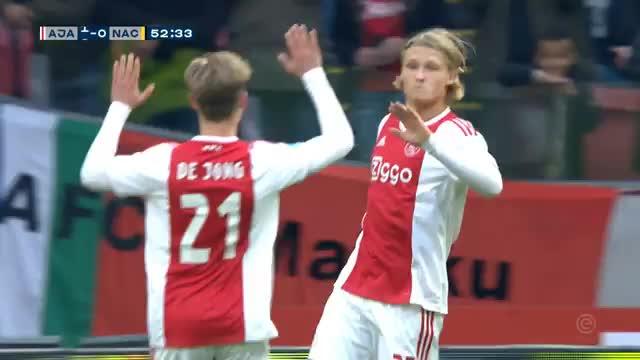 Wow! Ajax-Däne Dolberg mit Super-Hacken-Treffer