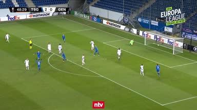 Das 3:0 der TSG Hoffenheim gegen KAA Gent