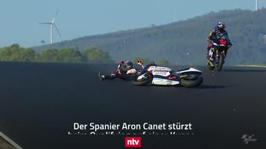Krasser Crash in der Motorrad-Weltmeisterschaft