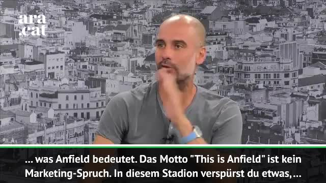 Demütiger Guardiola huldigt Anfield-Atmosphäre