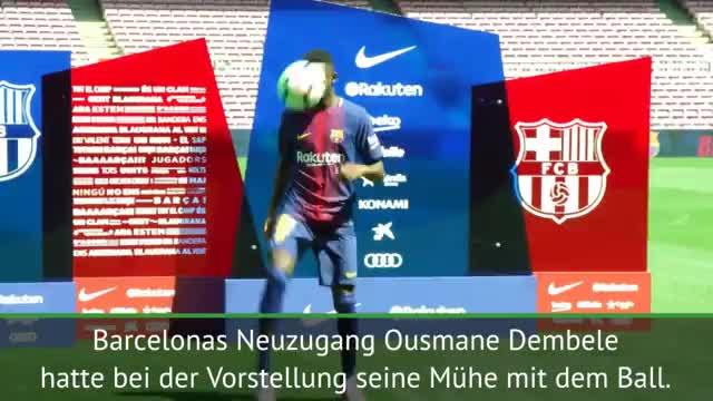 Ousmane Dembélé patzt bei Barça-Präsentation