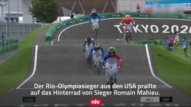 Schock-Momente nach üblen Crashs in BMX-Rennen