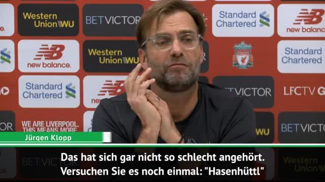 """Hasenhüttl""! Klopp lehrt Journalisten Aussprache"