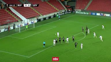 Slavia Prag vs. Bayer Leverkusen in der Zusammenfassung