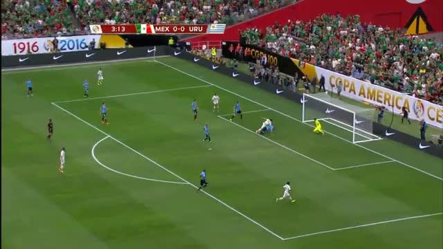Copa:  4 Tore und 2 Rote zwischen Mexiko und Uruguay