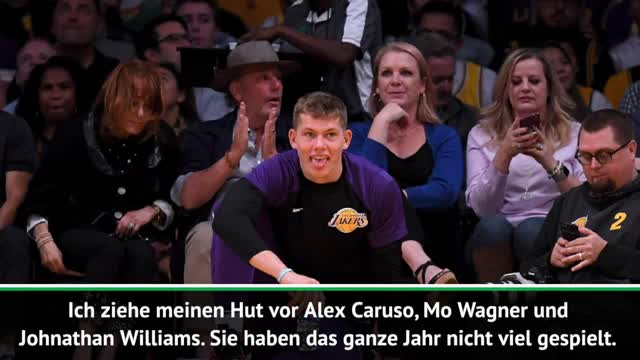 "James lobt Mo Wagner: ""Ziehe meinen Hut"""