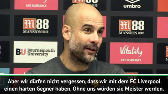 Guardiola happy: Spieler zeigen Meister-Willen