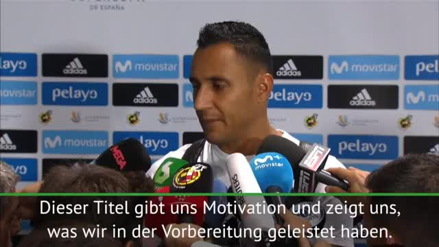 "Supercup: Navas: ""Titel gibt uns Motivation"""