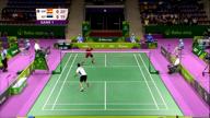 66 Schläge! Mega-Badminton-Ballwechsel