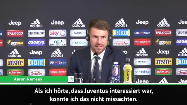 """Juve-Neuzugang Ramsey: """"Ein Traum für mich"""""""