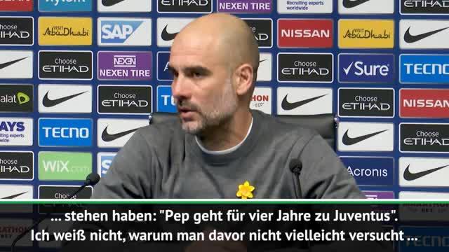 Guardiola zu Juve-Gerücht: Twitter ist schuld