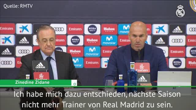 Real-Hammer! So erklärt Zidane seinen Rücktritt