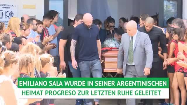 Emiliano Sala in seiner Heimat beigesetzt