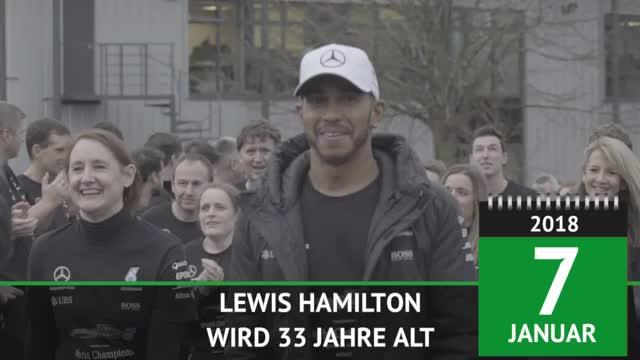 F1: Weltmeister Hamilton wird 33 Jahre alt