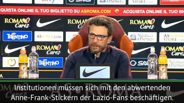 Lazio-Fan-Skandal um Anne Frank: Trainer sauer
