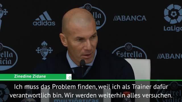 """Zidane rätselt: """"Fehler sind nicht normal"""""""