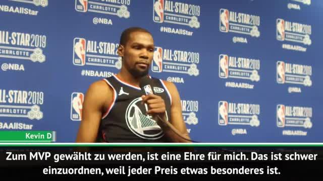 """Durant stolz: Allstar-Game-MVP zu sein """"cool"""""""