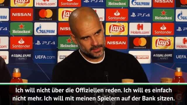 """Guardiola: """"Will nicht über Offizielle reden"""""""