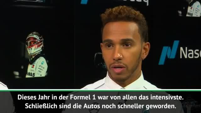 """F1: Hamilton: """"Dieses Jahr am intensivsten"""""""