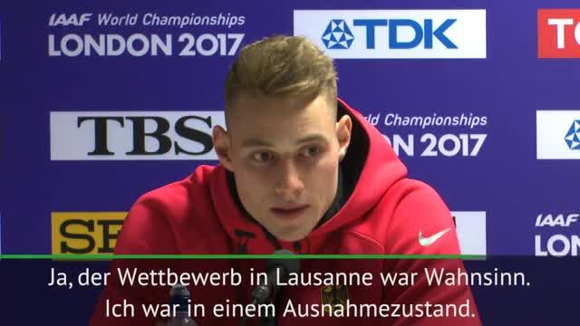 """Speerwurf-Weltmeister Vetter: """"Extrem nervös"""""""