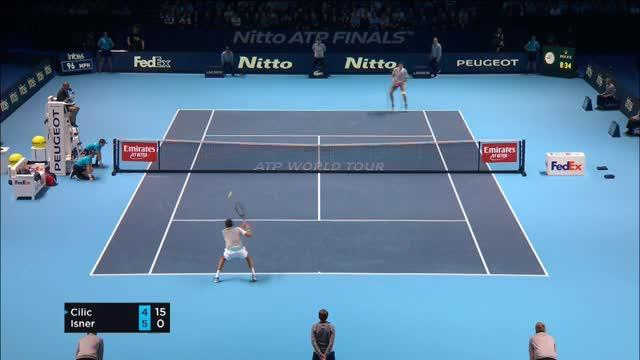 ATP-Finals: Cilic mit Comeback-Sieg gegen Isner