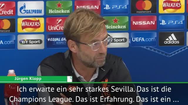 """Klopp vor Sevilla: """"Endlich Champions League"""""""