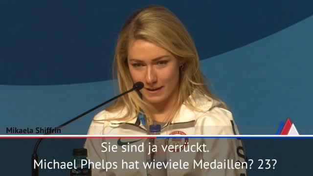 "Olympia: Shiffrin: Phelps? ""Äpfel mit Birnen"""