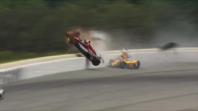Ex-DTM-Pilot Wickens mit Mega-Crash beim IndyCar