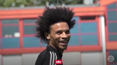 Leroy Sané gibt im Bayern-Training Vollgas