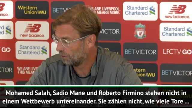 Klopp: Salah, Mané und Firmino keine Konkurrenz